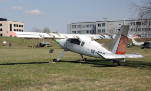 PZL-105L Flaming